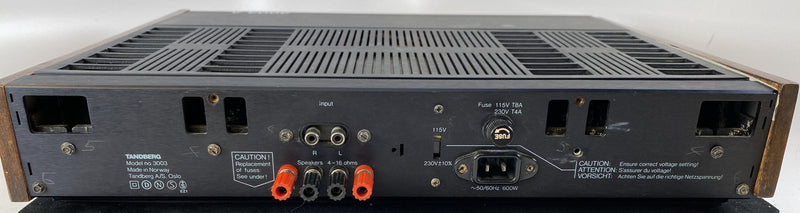 Tandberg TPA 3003 Stereo Amplifier - Made in Norway