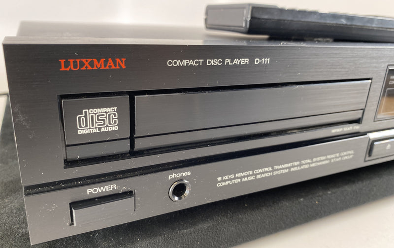 Luxman D-111 Vintage CD Player with Remote - DUAL D/A Converters