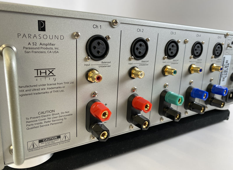 Parasound Halo A 52 - 5-Channel Power Amplifier - THX Ultra2 Certification