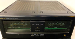 Onkyo M-588F Stereo Power Amplifier - Huge Meters WOW - 200WPC