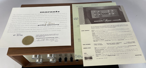 Marantz Model 7 Vintage Tube Preamp - Full Restoration and Gorgeous