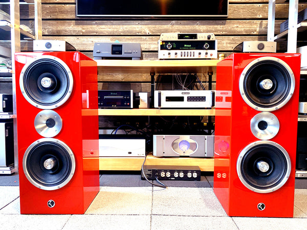 Zu Audio Defhead Speakers In Custom RED Finish - RARE!!