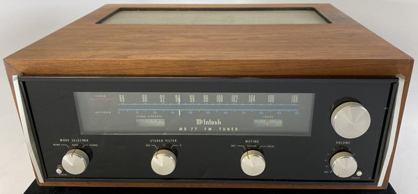 McIntosh MR77 Analog Vintage Tuner in Walnut Cabinet
