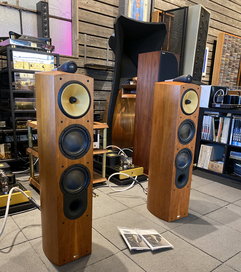 B&W Nautilus 804 Speakers in Gorgeous Cherry Finish - Complete Set
