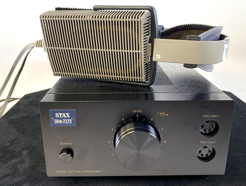 Stax SRM-727-II Headphone Amplifier With Stax Lambda Classic Headphones