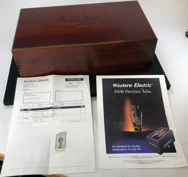 Western Electric No. 300-B Re-Issue NOS Tubes - NEW Matched QUAD Set (Set 2 of 2)