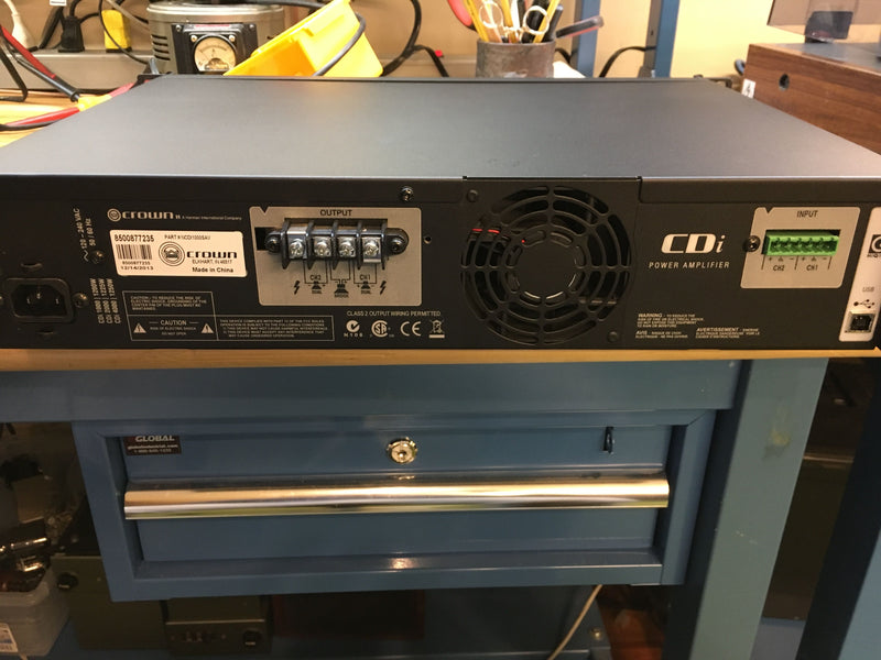 Crown Audio CDi-1000 Amplifier, Pro Model, 275W x 2, with DSP
