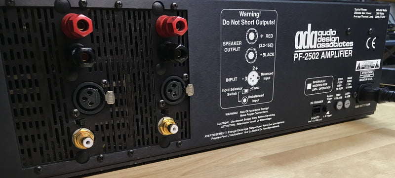 Audio Design Associates PF-2502 Solid State Amplifier
