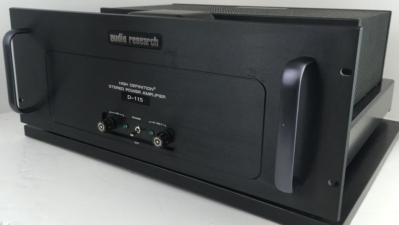 Audio Research D-115 Classic Tube Amplifier - Silver or Black Faceplate Choice