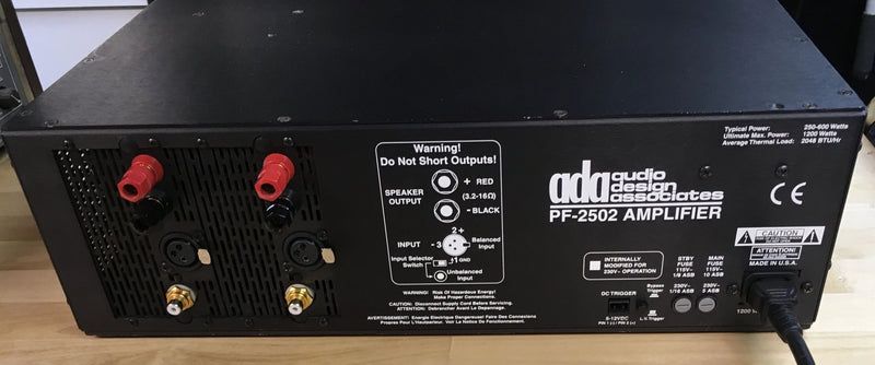 Audio Design Associates Flagship PF-2502 Amplifier