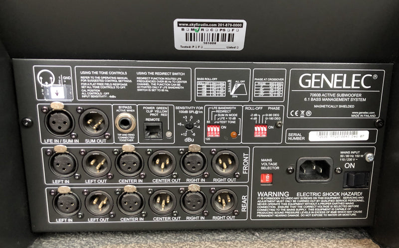 Genelec 7050B Power Pro Audio Subwoofer 2 of 2