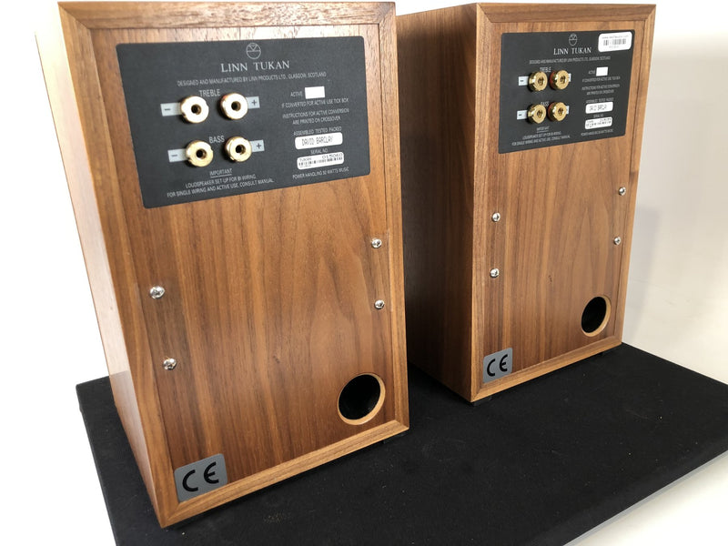 Linn Tukan Bookshelf Speakers, Beautiful Cherry Wood Finish