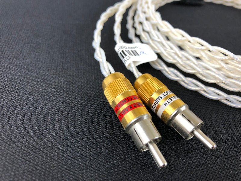 Kimber Kable KCAG Silver Analog Audio Cable - Ultraplate RCA's - 2 Meters