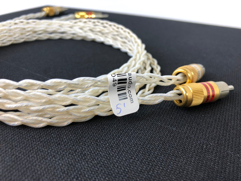 Kimber Kable KCAG Silver Analog Audio Cable, Ultraplate RCA's, 1.5 Meters
