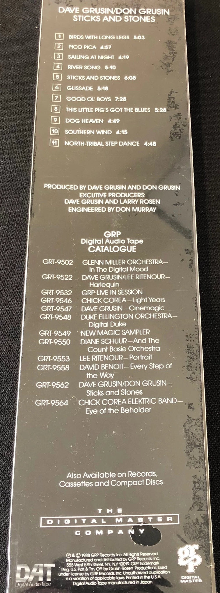 Dave Grusin / Don Grusin - Sticks and Stones - New Pre-Recorded DAT Tape