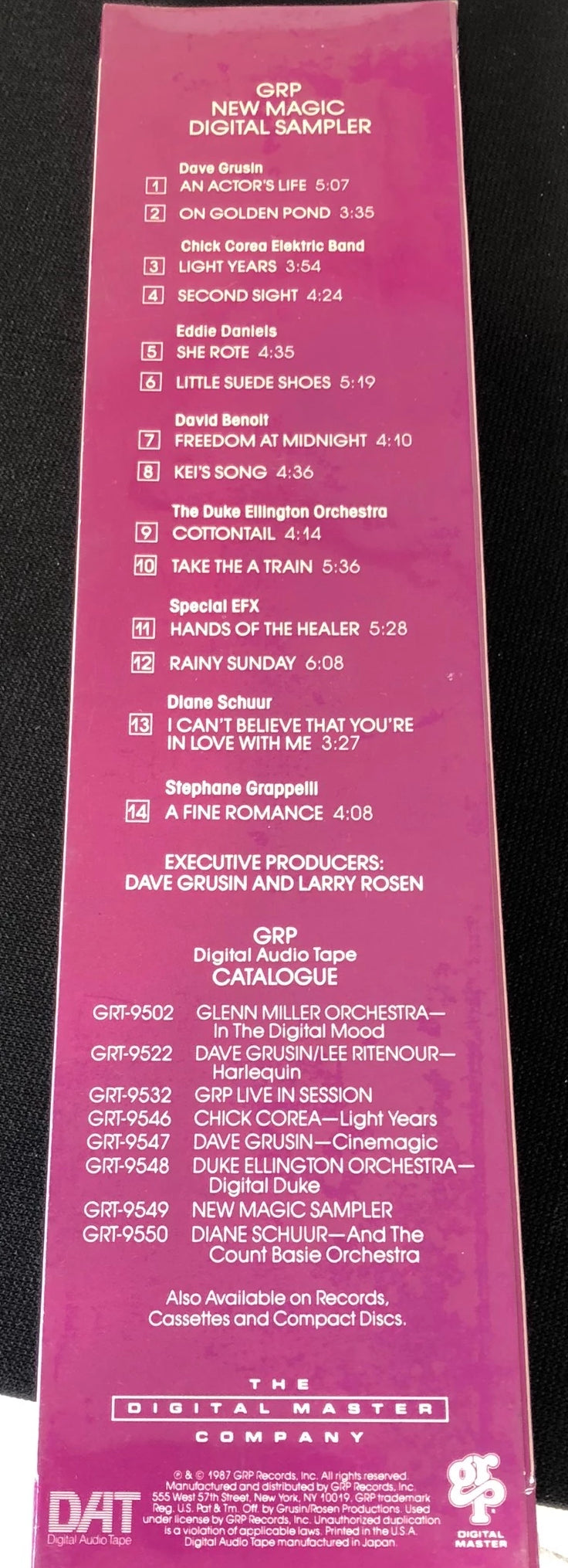 GRP New Magic Digital Sampler - New Pre-Recorded DAT Tape