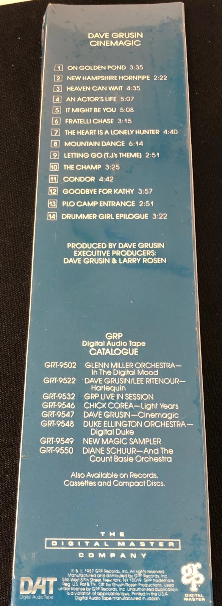 Dave Grusin - Cinemagic - New Pre-Recorded DAT Tape