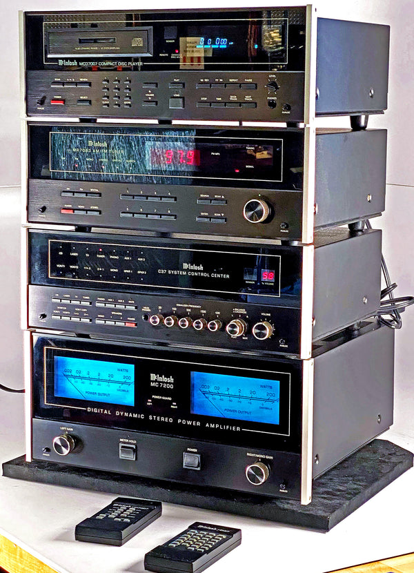 McIntosh 4 Piece System from the 1980's and 1990's = C37 + MC7200 + MCD7007 + MR7083