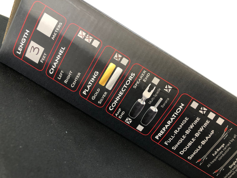 AudioQuest Rocket 88 Bi-Wire Speaker Cables With 72V DBS - NEW IN BOX - 3'