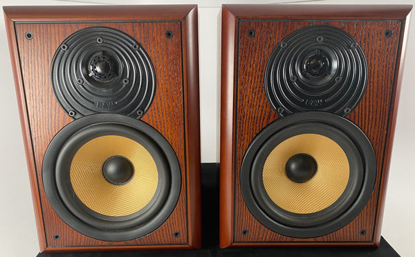 B&W (Bowers & Wilkins) CDM 2 Bookshelf Speakers - Very Desirable Cherry