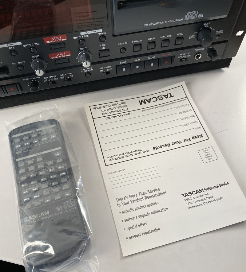 TASCAM CC-222SLMKII - CD Recorder / Cassette Combination Deck