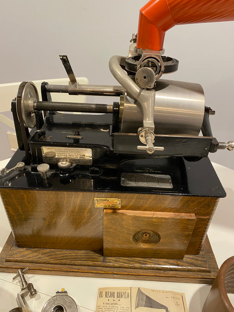 Edison Concert Phonograph, Late 1800's with Bettini Attachment Reproducer