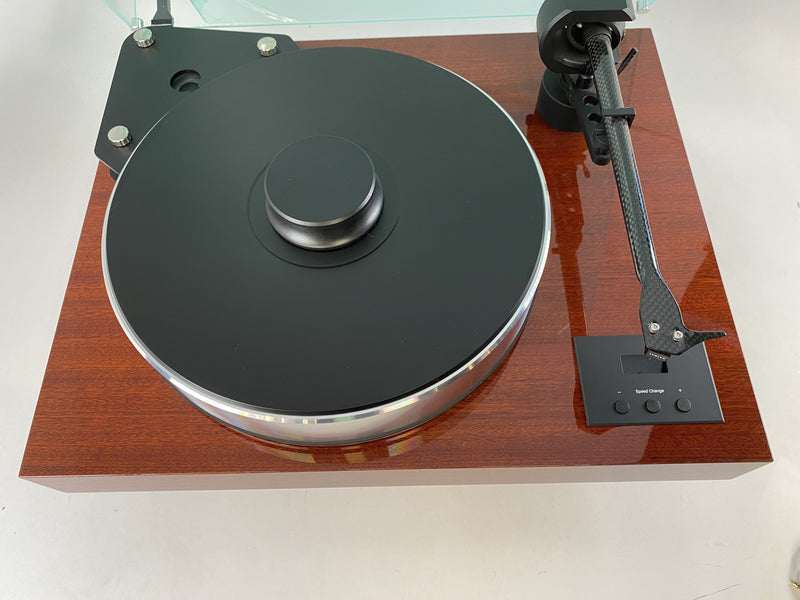 Pro-Ject Xtension 10 Turntable with Mahogany Plinth and NEW Sumiko Cartridge - DEMO Unit