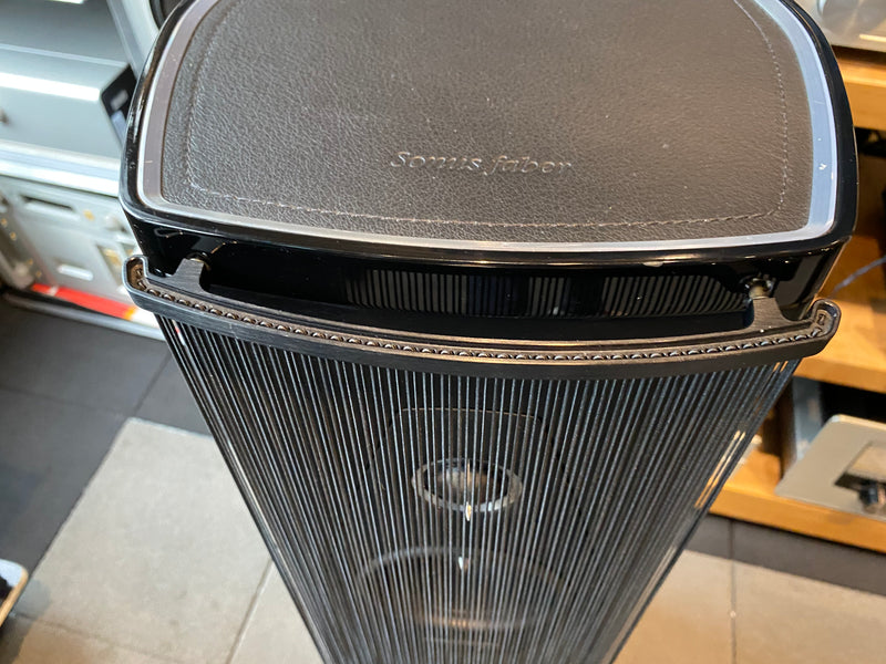 Sonus Faber Olympica III Speakers In Gloss Black and Leather