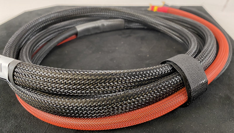 Signal Cable - Custom REL Subwoofer Cable With Speakon Connector to Spades, 8 Feet