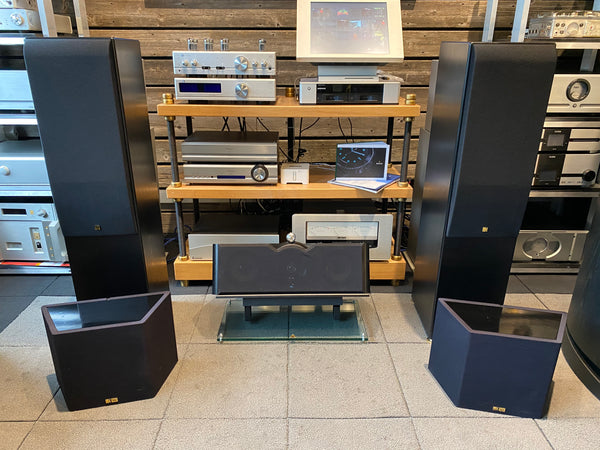 KEF Reference Home Theater Speaker System Package - Reference Model Three-Two, 202c, and TDM34DS