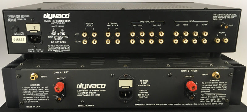 Dynaco PAS-4 Tube Preamp and Stereo 400 Series II Solid State Amp Combo