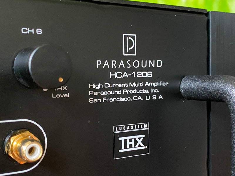 Parasound HCA-1206 High Current THX Certified 6/5/4 Channel Amplifier - Designed By John Curl