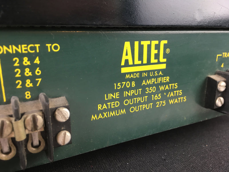 Altec 1570B Tube Monoblock Amplifier Pair