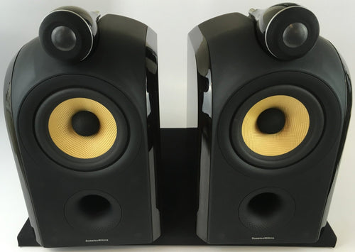 B&W (Bowers & Wilkins) PM1 Speakers with Matching Stands, Original Box