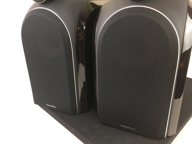 B&W (Bowers & Wilkins) PM1 Speakers with Matching Stands and Original Box