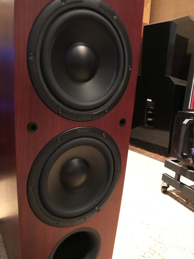 McIntosh LS340 Full Range Speakers - In a Deep Red Mahogany Finish