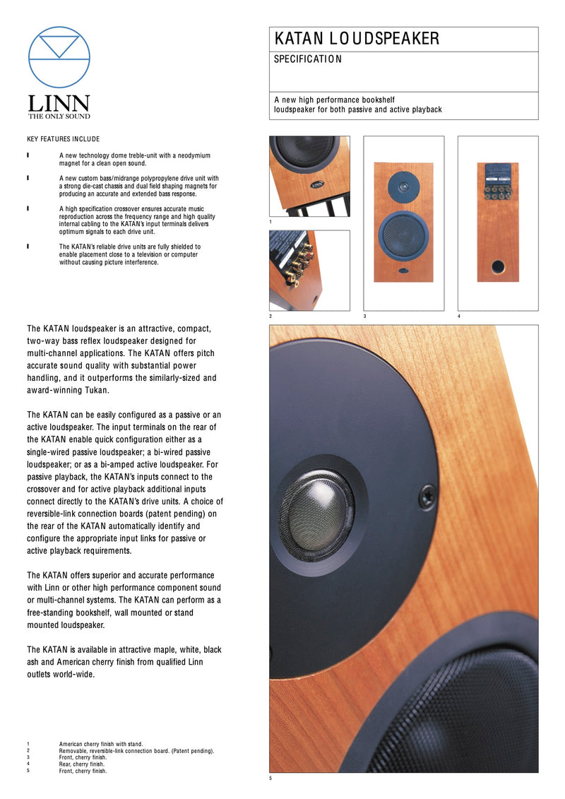 Linn Katan Bookshelf Speaker - Made in the UK