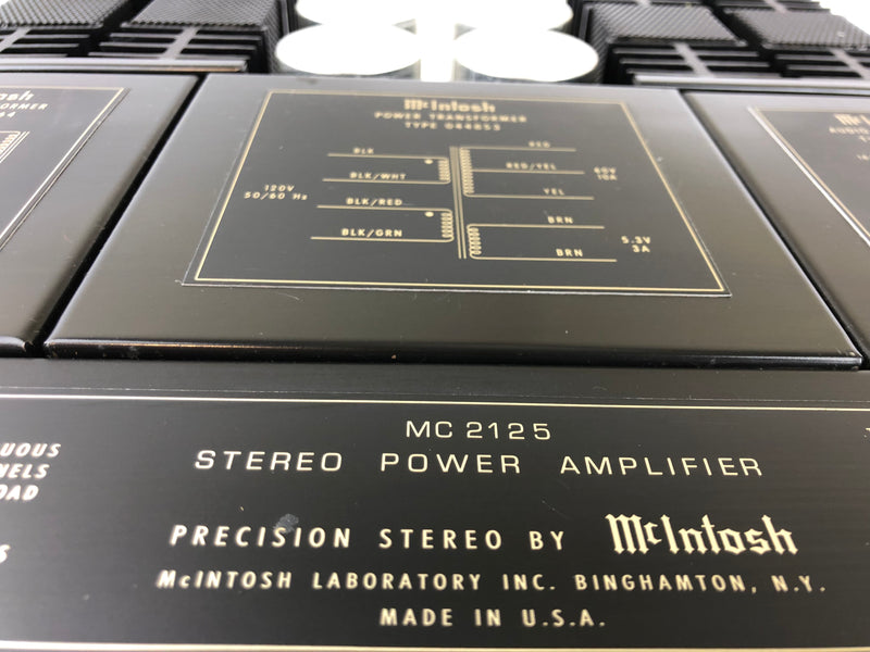 McIntosh MC-2125 Vintage Solid State Stereo Amplifier