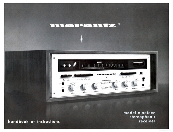 Marantz Model 19 Stereophonic Receiver With Scope - Super Minty - One Of The Best Receivers Ever Made