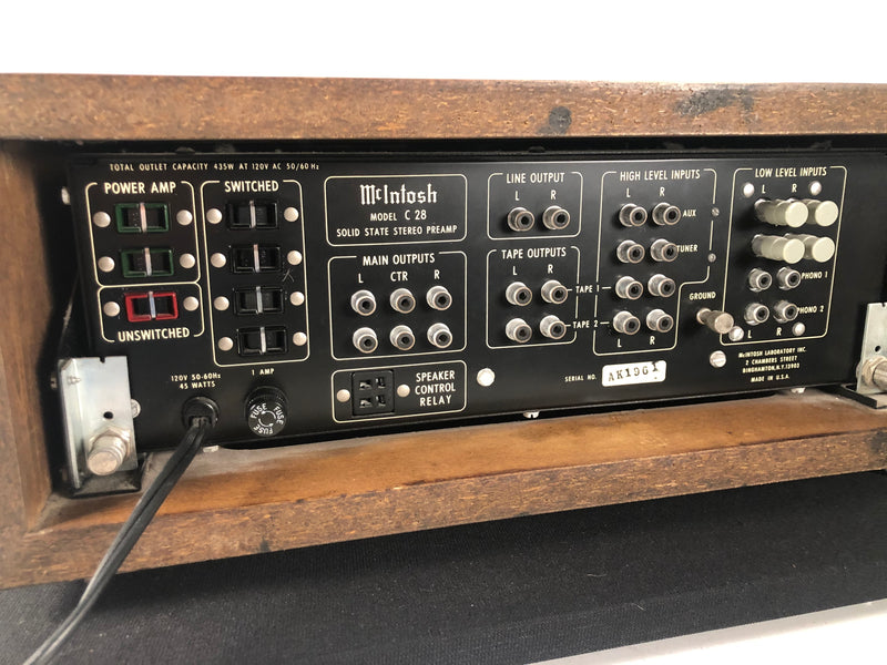 McIntosh C28 Preamp - Complete Collectors Set
