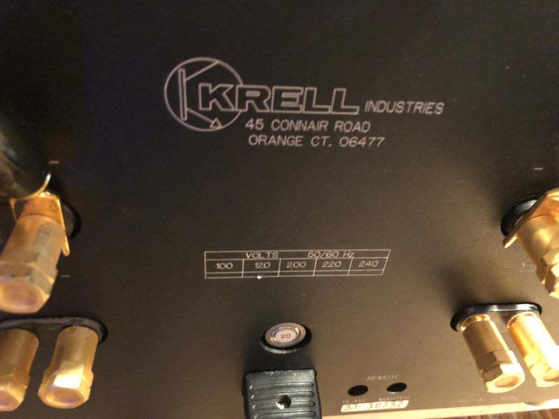 Krell KSA-200S 200W Solid State Amplifier - Just Serviced and Perfect