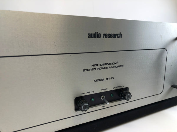 Audio Research D-115 Classic Tube Power Amp - Silver Faceplate