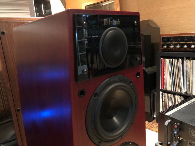 McIntosh LS340 Speakers - Red Cherry Finish