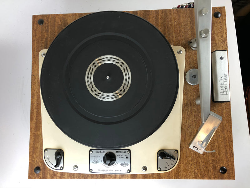 Garrard 301 Vintage Turntable with Gray Arm, Gorgeous