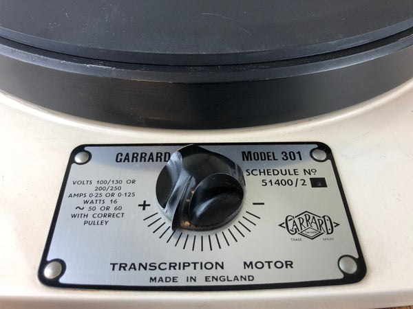 Garrard 301 Vintage Turntable with Gray Research 108 Tonearm, Gorgeous