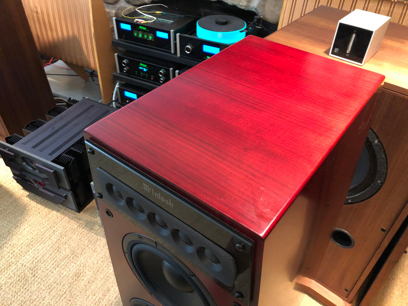 McIntosh LS360 Speakers in a Beautiful Red Cherry Finish