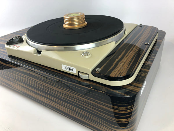 Thorens TD-124 Custom Turntable with SME3009 Improved Tonearm and Ebony Plinth
