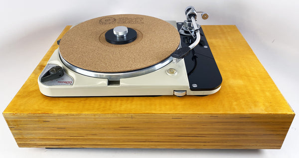 Thorens TD-124 with Custom Solid Wood Plinth and SME3009 Tonearm