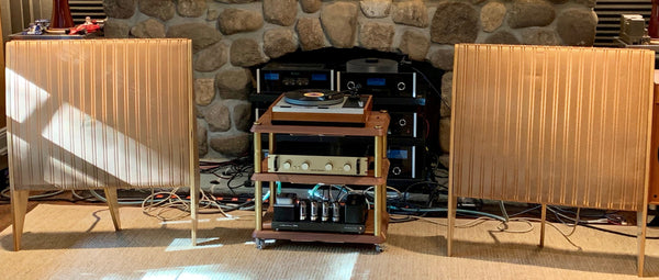 Quad ESL-57 Electrostatic Speakers, Upgraded and Amazing