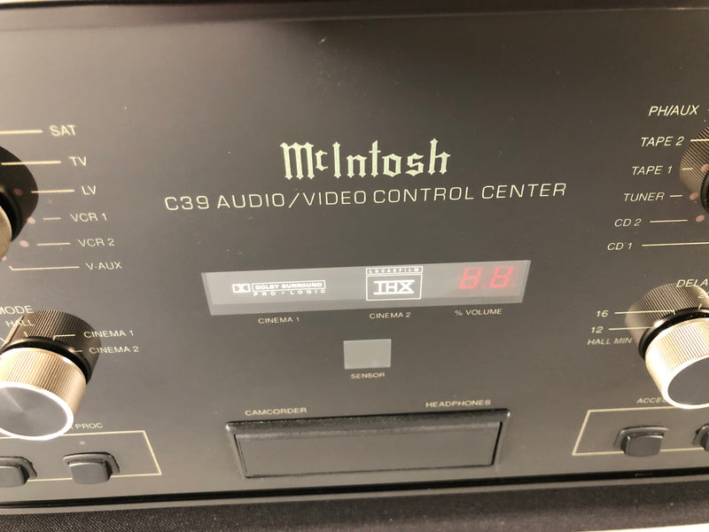 McIntosh C39 Solid State Preamp with Phono Input